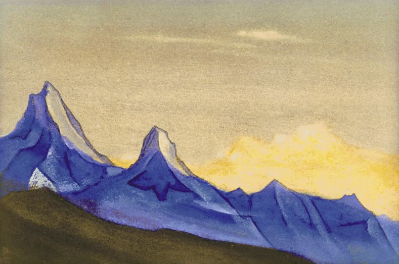 The Himalayas # 99 Two cliffs. Roerich N.K. (Part 5)