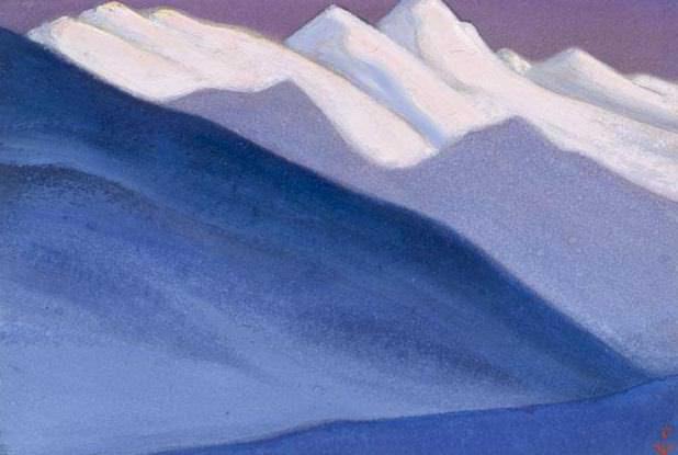 Himalayas # 59 Blue slope. Roerich N.K. (Part 5)