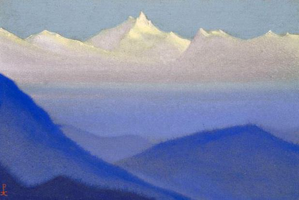 Dawn # 174 Dawn (clear morning). Roerich N.K. (Part 5)