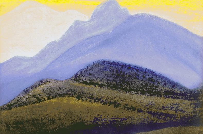 The Himalayas # 54 The Blue Giant. Roerich N.K. (Part 5)