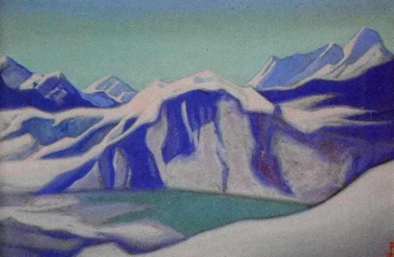 Ladak # 97 Ladak (Turquoise lake in the mountains). Roerich N.K. (Part 5)