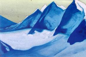 The Himalayas # 149 The Glacier. Roerich N.K. (Part 5)