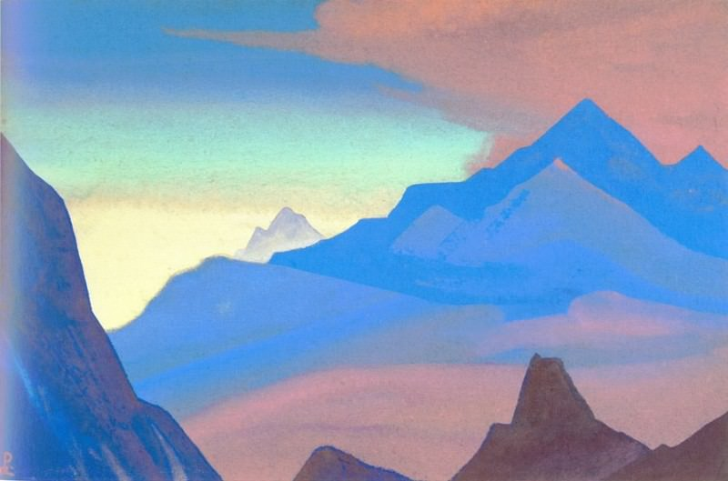 Himalayas # 95 Dawn in mountains. Roerich N.K. (Part 5)