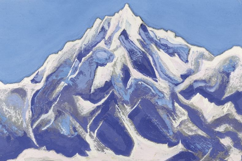Himalayas # 116 Mountain peak covered with snow. Roerich N.K. (Part 5)