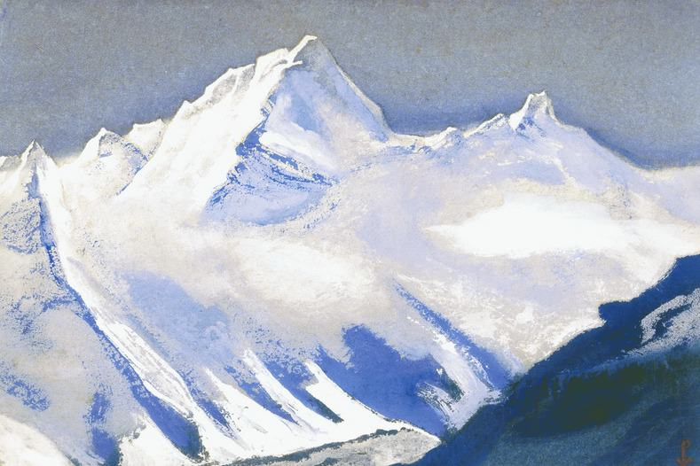 The Himalayas # 127 Silver of a snowy peak. Roerich N.K. (Part 5)