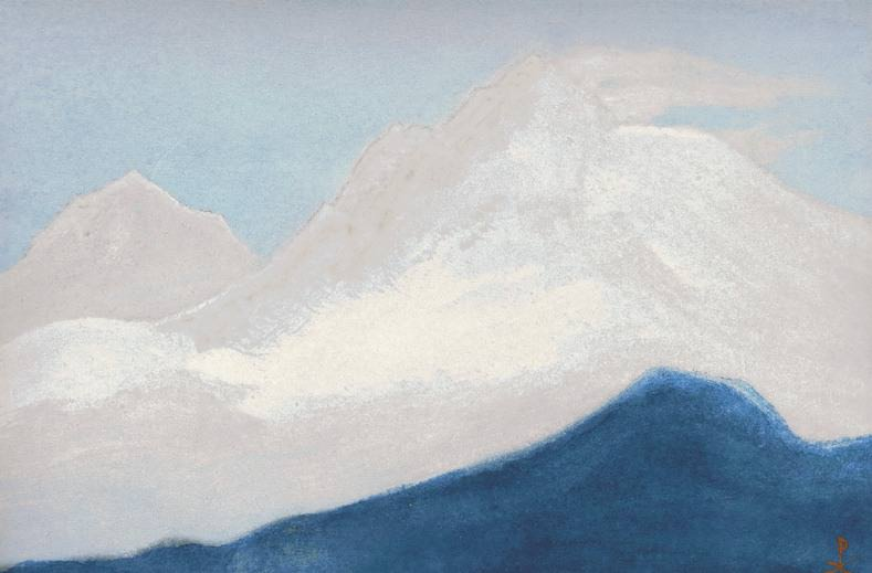 Himalayas # 95 Pink light of the snows. Roerich N.K. (Part 5)