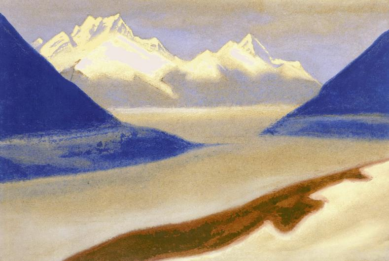 Monsoon # 60 Monsoon (low clouds). Roerich N.K. (Part 5)