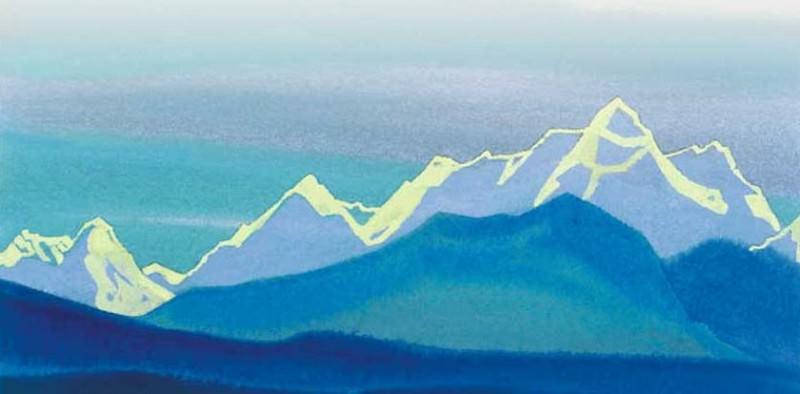 The Himalayas # 7 The solar circuit of the mountains. Roerich N.K. (Part 5)