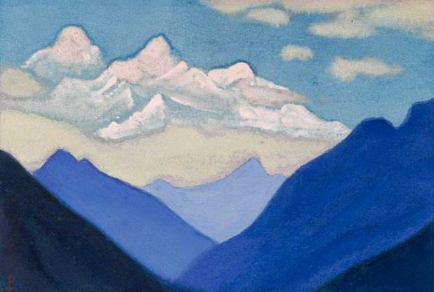 The Himalayas # 111 Mountains and clouds. Roerich N.K. (Part 5)