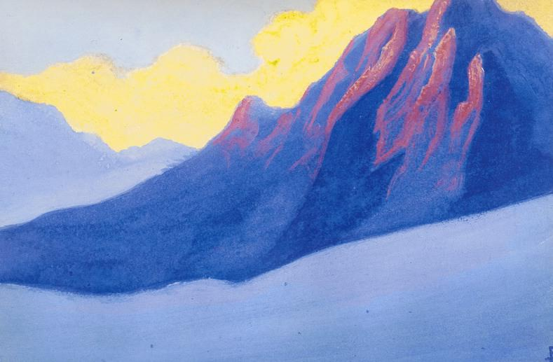 The Himalayas # 114 in the purple rays. Roerich N.K. (Part 5)