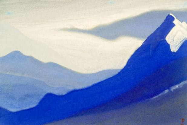 Himalayas # 104 Mountain landscape in calm tones. Roerich N.K. (Part 5)