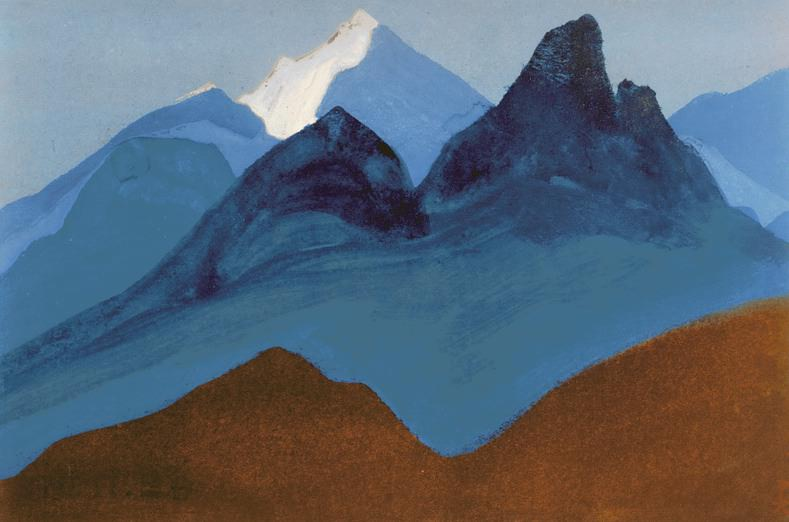 The Himalayas # 4 The night behind. Roerich N.K. (Part 5)