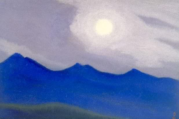 Himalayas # 3 Mountains before dawn. Roerich N.K. (Part 5)