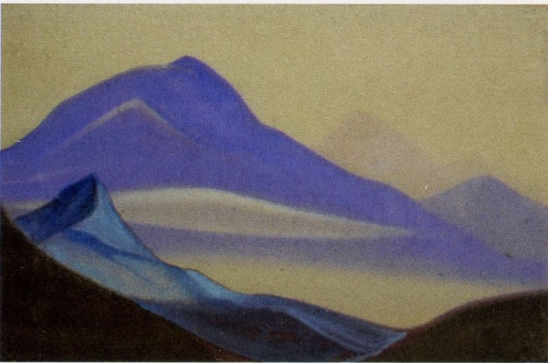 Mists Mists # 61 (Blue mountain). Roerich N.K. (Part 5)