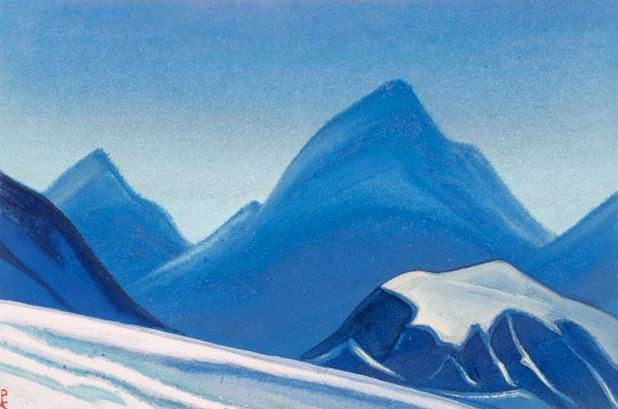 Himalayas # 5 Ice wave. Roerich N.K. (Part 5)