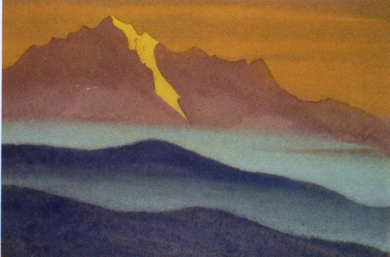 Гималаи #34 Горы в голубом тумане. Рерих Н.К. (Часть 5)