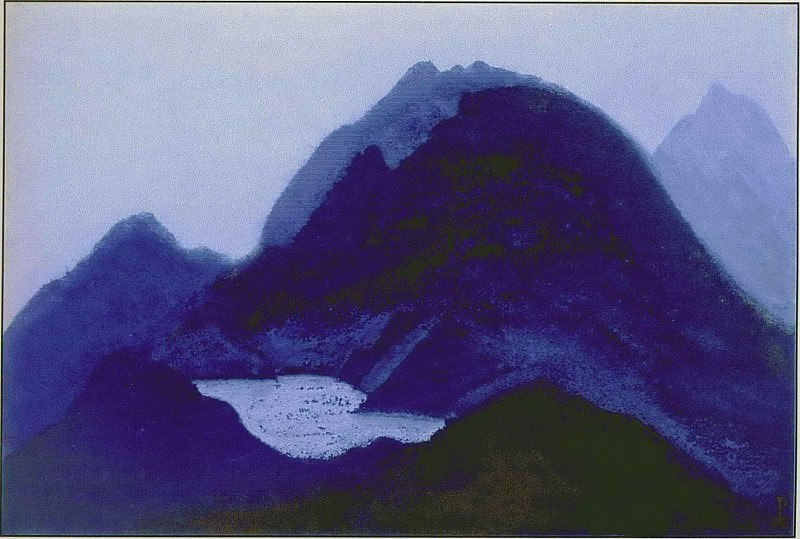 Mountain lake # 2. Roerich N.K. (Part 5)