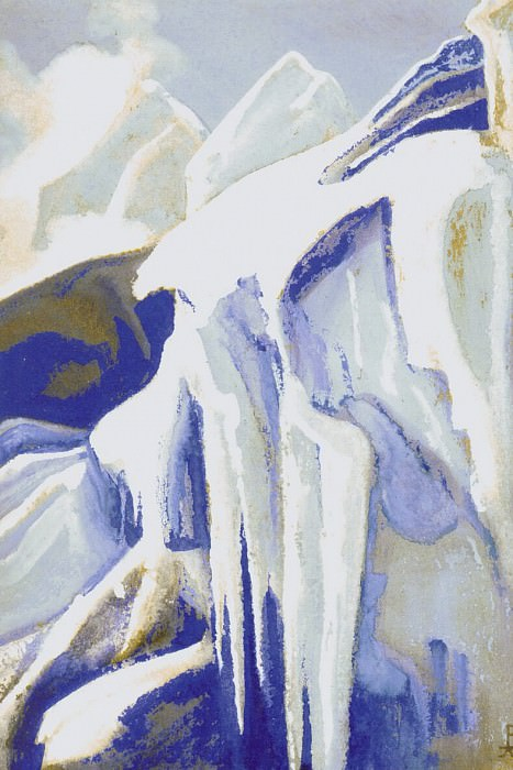 Ice # 102 Ice (Stagnant flow). Roerich N.K. (Part 5)