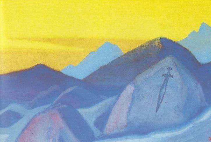 Sword Gessar Khan # 21 (Sword Gessar Khan sketch.). Roerich N.K. (Part 5)
