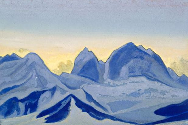 The Himalayas # 122 Rock Circle. Roerich N.K. (Part 5)