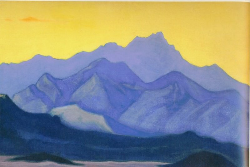 Гималаи #138 Гималаи. Перед восходом. Roerich N.K. (Part 5)