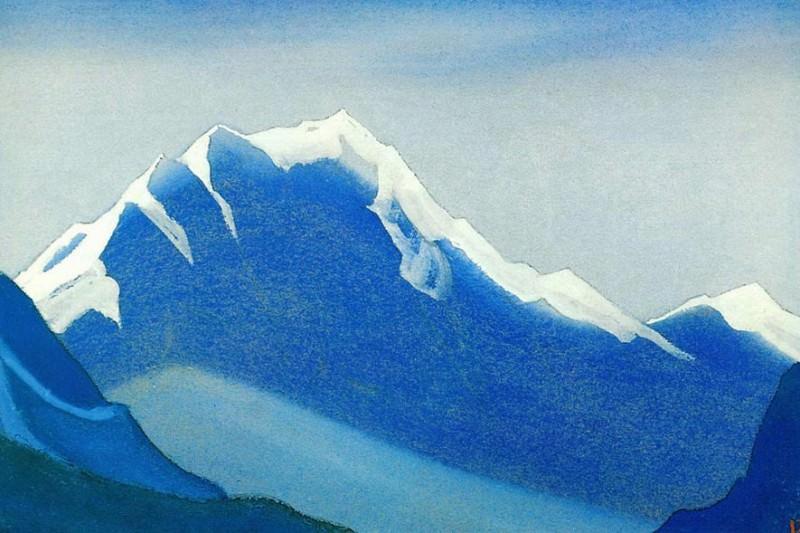 Гималаи #48 Гималаи. Серая скала в снегах. Roerich N.K. (Part 5)