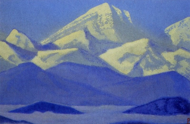 Himalayas # 61 Cold vertex. Roerich N.K. (Part 5)