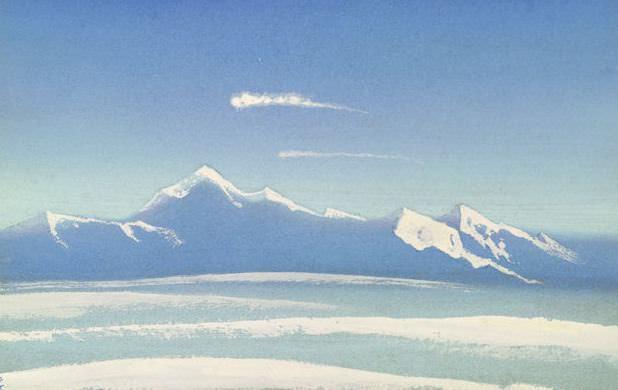 Tibet # 46 Tibet (Celestial vertex). Roerich N.K. (Part 5)