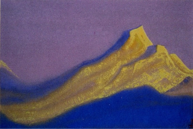 The Himalayas # 39 The Golden Rock. Roerich N.K. (Part 5)
