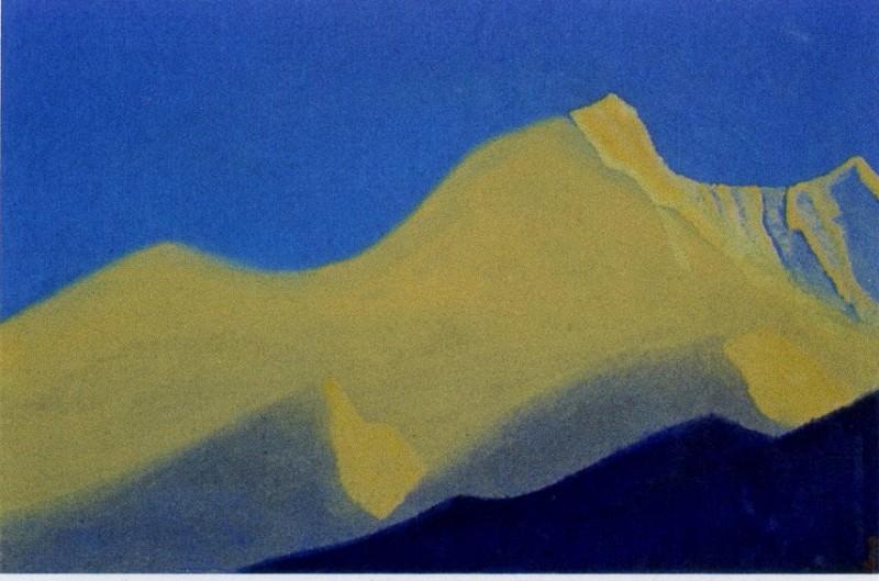 Chumolhari # 38 Chomo-Lhare (Vertices sunlit). Roerich N.K. (Part 5)