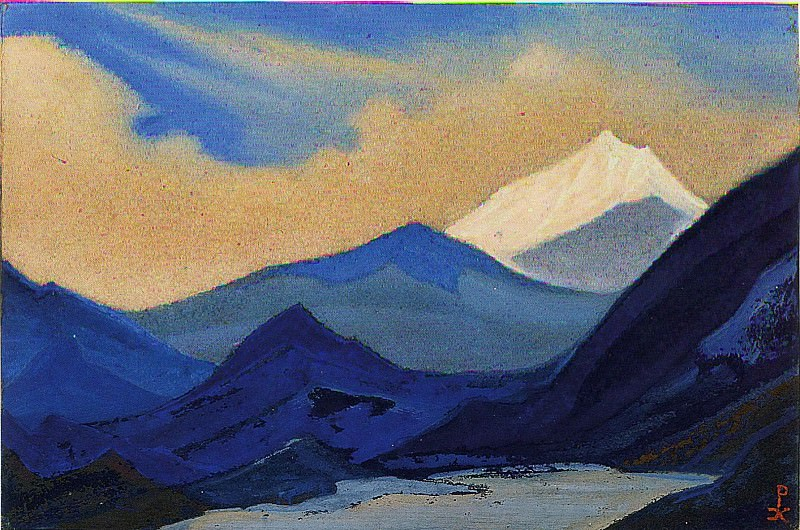 The Himalayas # 113 The beginning of a new day. Roerich N.K. (Part 5)