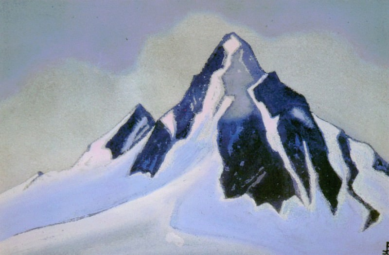 The Himalayas # 109 The Black Peak. Roerich N.K. (Part 5)