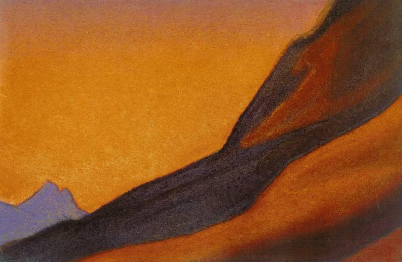 Evening # 184 evening (sunset Fire). Roerich N.K. (Part 5)