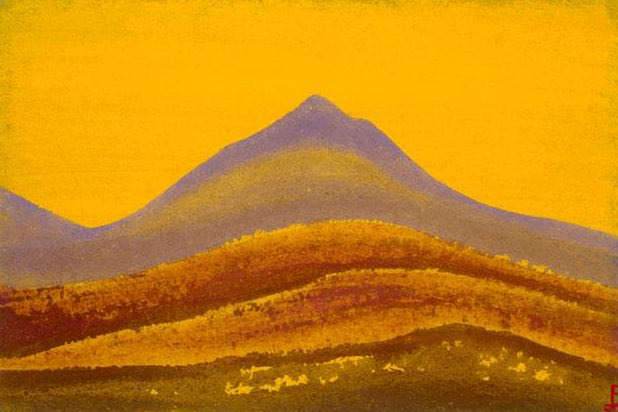 Evening # 218 Evening (Orange magic). Roerich N.K. (Part 5)