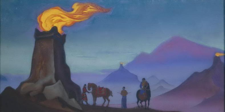 Victory Lights # 18 victories lights (Sentinel lights on Gobi towers). Roerich N.K. (Part 5)