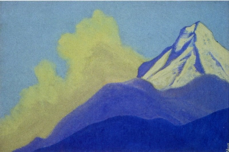 Himalayas # 122 Mountain peak. Roerich N.K. (Part 5)