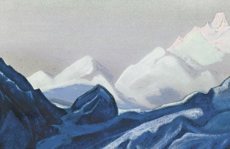 The Himalayas # 134 The Blue Glacier. Roerich N.K. (Part 5)