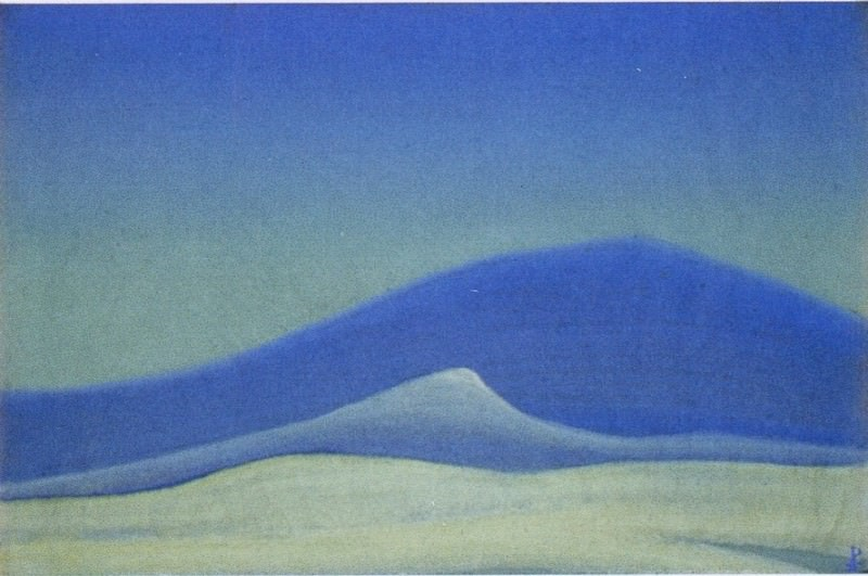 Himalayas # 57 Blue slopes dawn. Roerich N.K. (Part 5)