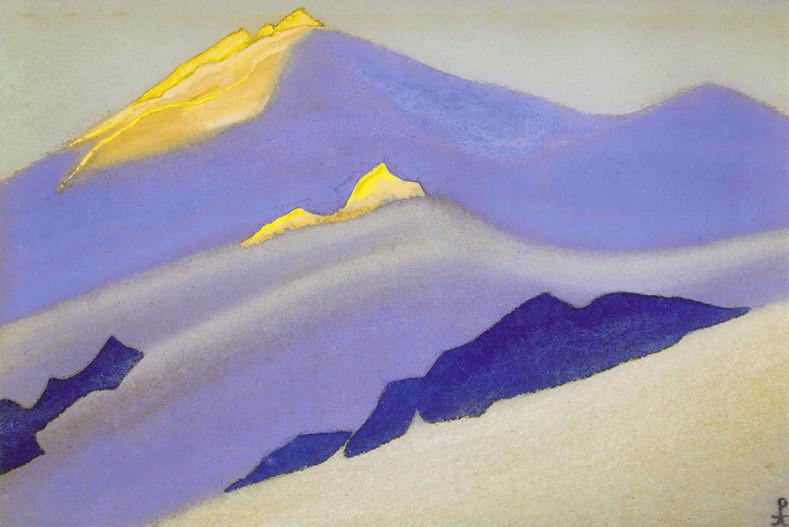 The Himalayas # 121 The Beam Game. Roerich N.K. (Part 5)