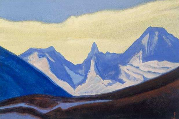 The Himalayas # 102 The Blue Chain. Roerich N.K. (Part 5)