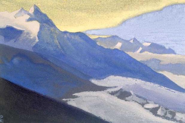 Himalayas # 99 U most snow. Roerich N.K. (Part 5)