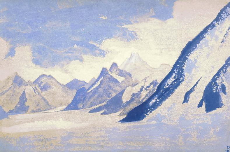 Vertices # 39 vertices (Alpine glacier). Roerich N.K. (Part 5)