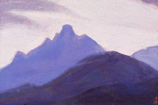 Himalayas # 5 Passing the sky. Roerich N.K. (Part 5)
