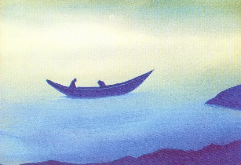Sadness (sketch) # 54 (Sadness (two in boat). sketch). Roerich N.K. (Part 5)