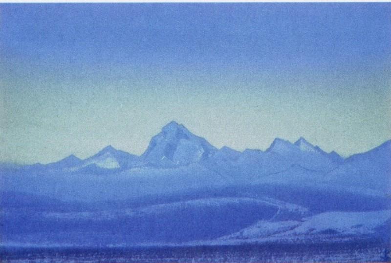 Chumolhari # 123 Chomo-Lhare (Blue dawn). Roerich N.K. (Part 5)