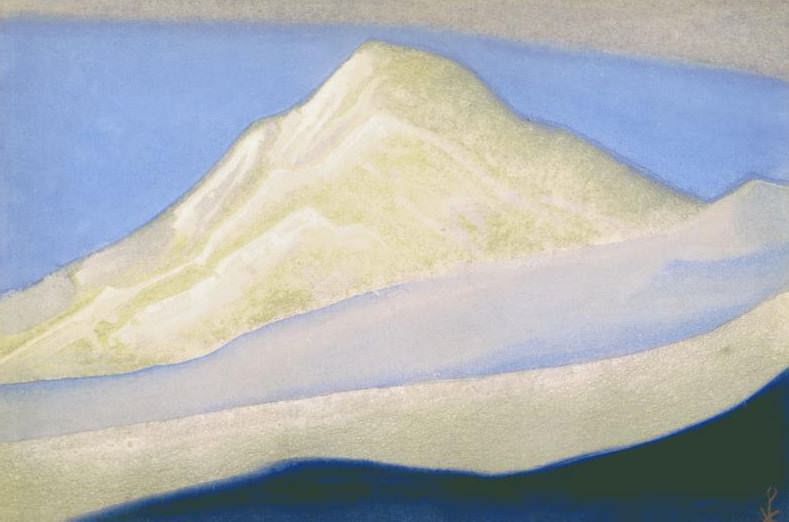 The Himalayas # 160 The beckoning peak. Roerich N.K. (Part 5)