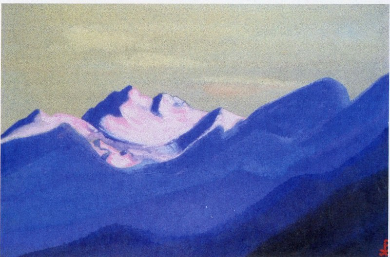 Himalayas # 69 Blue Pass. Roerich N.K. (Part 5)