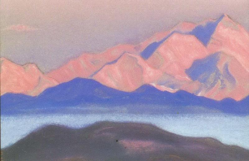 The Himalayas # 180 Scarlet Peaks. Roerich N.K. (Part 5)