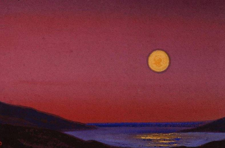 Himalayas. The setting moon. Roerich N.K. (Part 5)