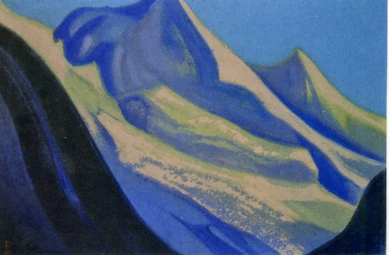 Morning # 185 morning (Pink rays mountains). Roerich N.K. (Part 5)